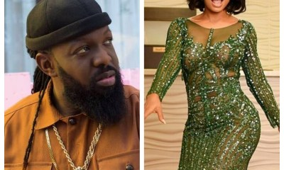 Toke Makinwa screams 'I am not wearing pant' as Timaya carries her up
