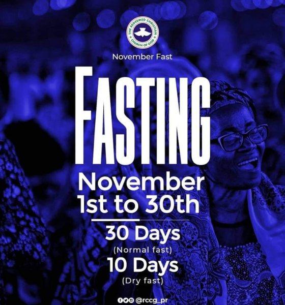 RCCG November 2019 30 Days Fasting Prayer Points Day 17