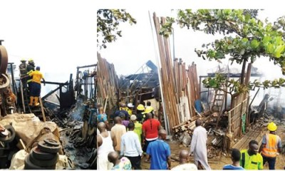 Fire destroys 30 shops goods in Lagos market