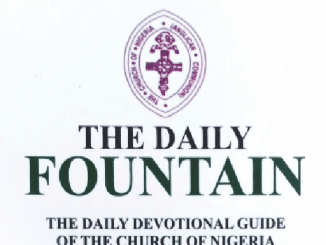 Anglican Daily Fountain Devotional 2nd July 2021