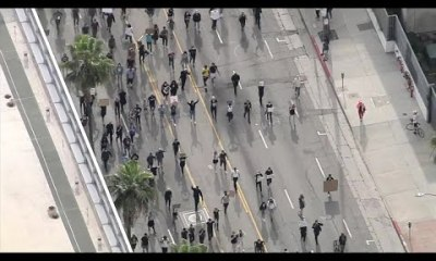 Watch Live: Largely peaceful protests in Hollywood come up against Curfew