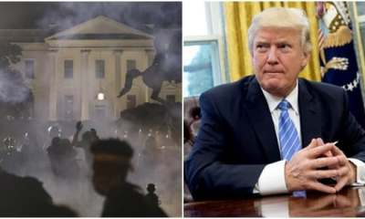 Trump taken to underground bunker in white house over protests