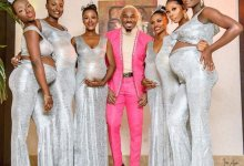 Pretty Mike with 6 pregnant baby mamas, Pretty Mike storms Williams Uchemba's wedding with his squad of 6 pregnant baby mamas (Video), Premium News24