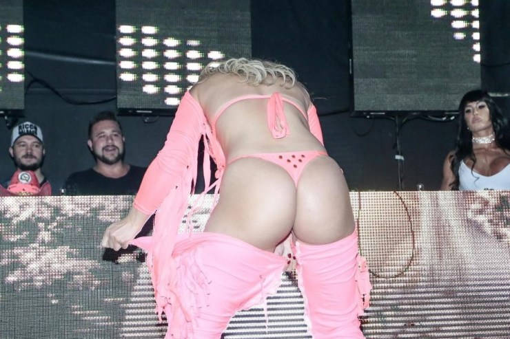 Miss Bum Bum Contestants fight on stage as one accuses rival of cheating with 'fake butt'