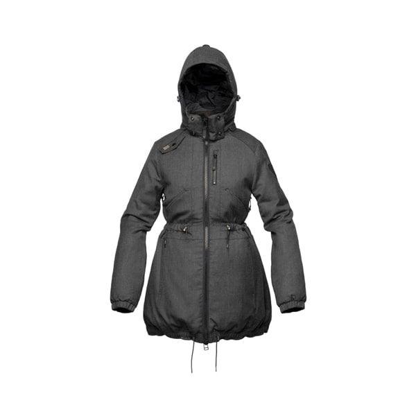 grey ladies Rain Jacket ghost apparel photography