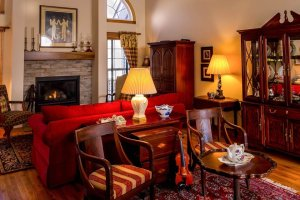 Antique furniture in the living room