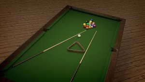 pool table, view from the top