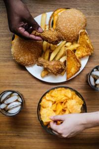 people eating fried food
