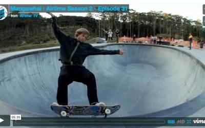 Airtime clip on the Mangawhai Skatepark