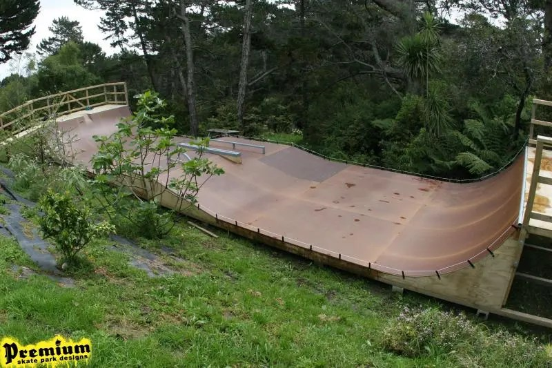 Backyard skatepark