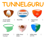 Get Tunnelguru TroidVPN VPN over DNS Toofan Hammer VPN No VPN VPN over HTTPS Premium Account