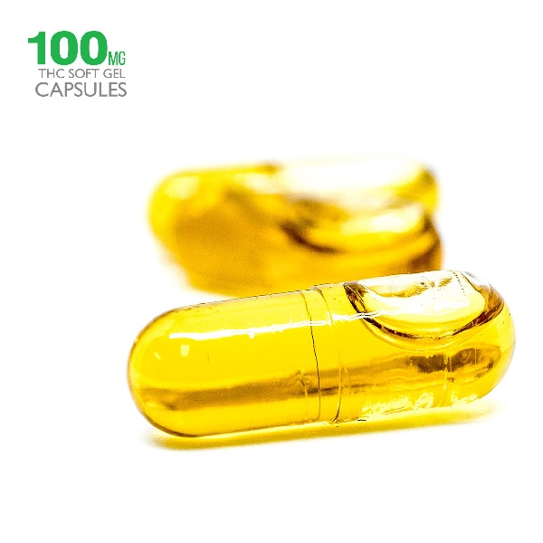 100mg THC Hemp Seed Oil Capsules