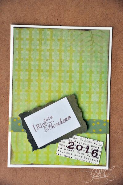 Prendre le temps - Cartes de vœux 2016 - modèle 2