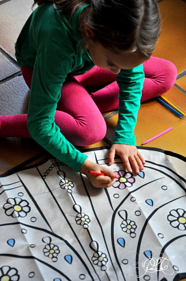 Prendre le temps - Anniversaire Titechérie - coloriage robe - Hema