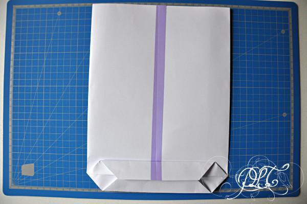 Prendre le temps - pochette cadeau en papier - DIY création