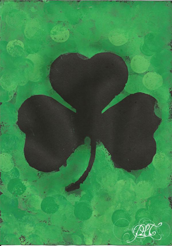 Prendre le temps - Voyageons Ludique - Irlande - Trèfle - peinture