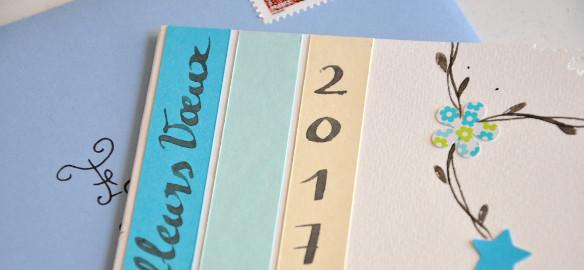 Prendre le temps - Carte de voeux 2017 - carterie - DIY