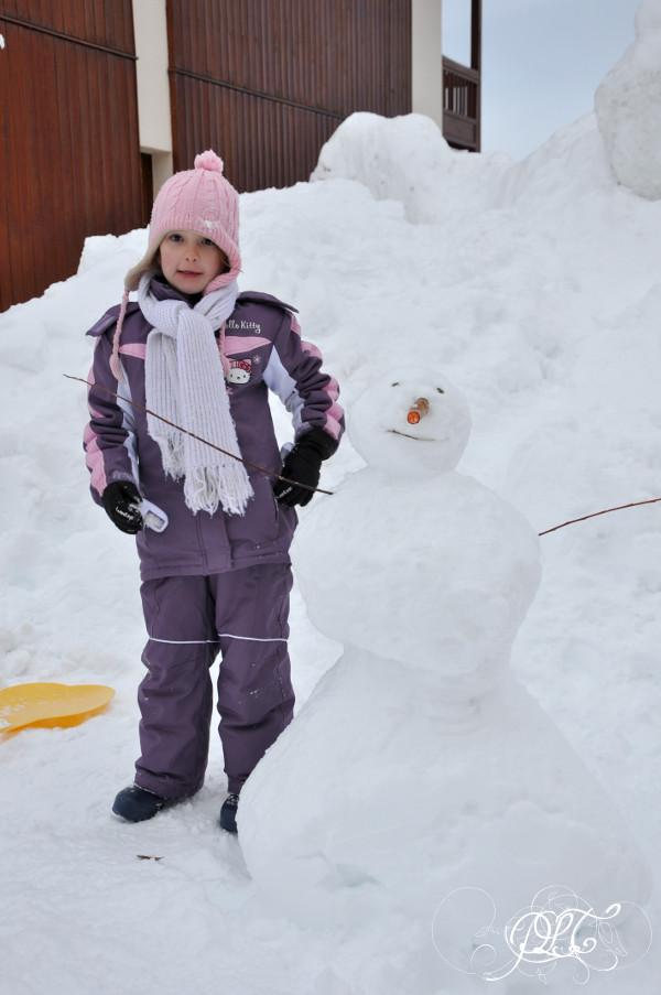 Prendre le temps - Voyage - La Toussuire - Savoie - Alpes - montagne - ski - bonhomme de neige