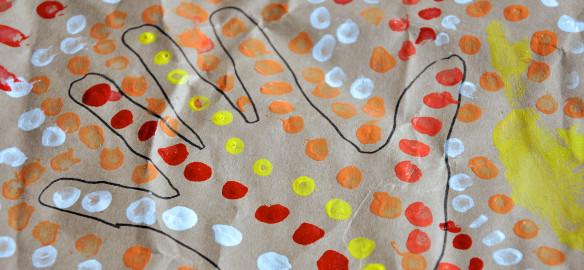 Prendre le temps - Voyageons Ludique - Désert - Australie - Peinture aborigène