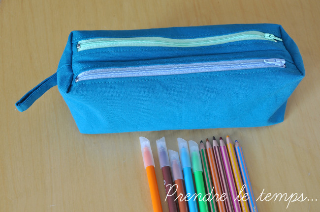 Prendre le temps - Couture - Trousse Zip-zip de Sacôtin double compartiment