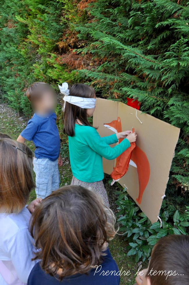 Prendre le temps - Anniversaire Animaux de la forêt - Jeu - Queue du Renard