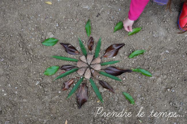 Prendre le temps - Voyageons Ludique - Forêt - Land Art