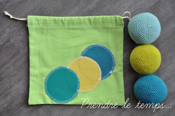 Prendre le temps - Pochon pour balles de jonglage - Couture