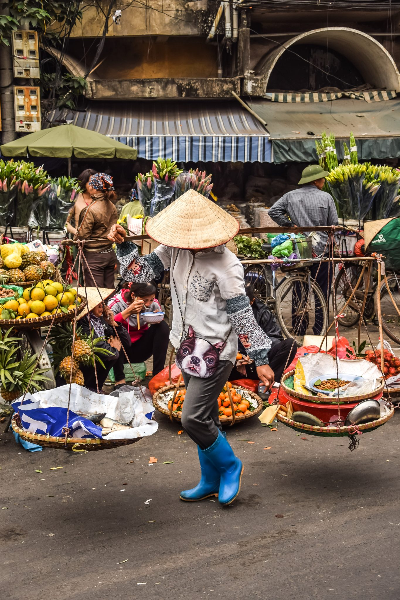 marché gong xuan Hanoi