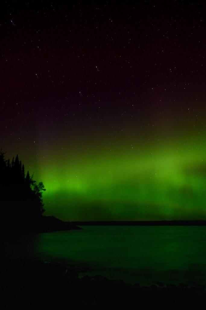 aurore polaire verte