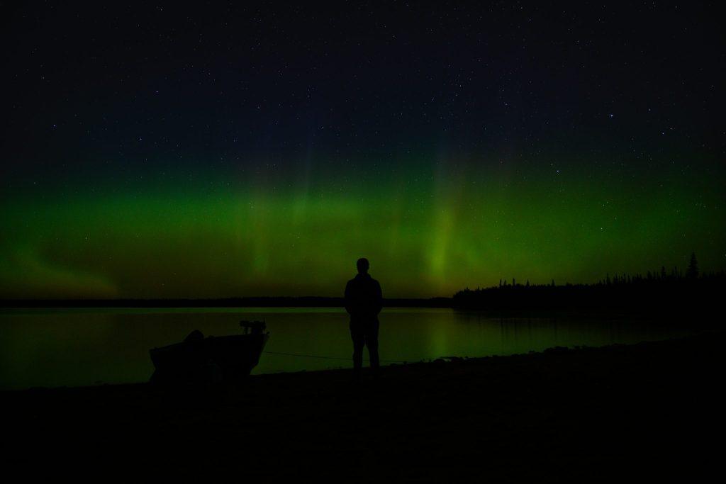 lac matagami aurores boréales