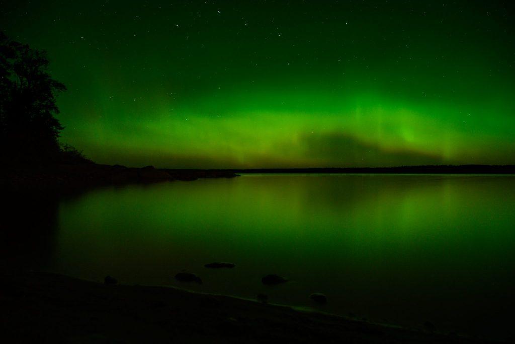 reflet aurore boreale