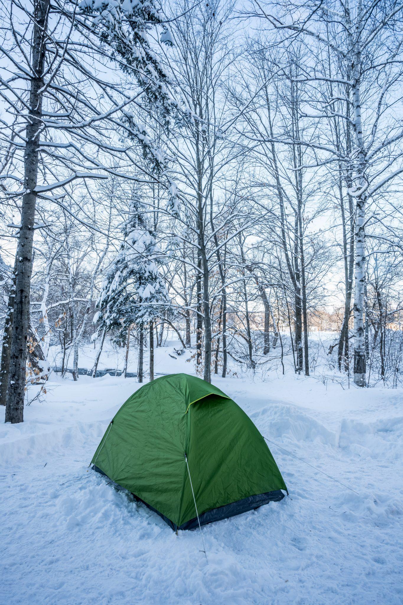 tente camping hiver