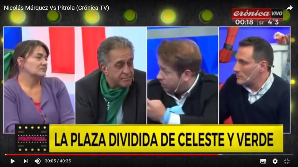 Nicolás Márquez Vs el subversivo Pitrola y otros agentes ultraizquierdas (Crónica TV - Argentina)