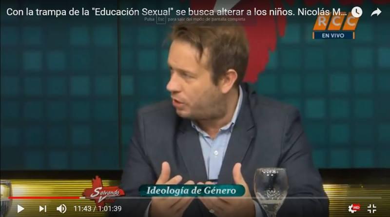"""Con la trampa de la """"Educación Sexual"""" se busca alterar a los niños: Nicolás Márquez en TV"""