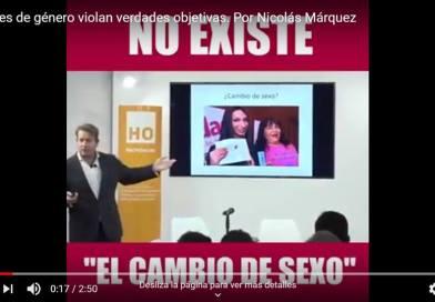 Las leyes de género violan verdades objetivas. Por Nicolás Márquez