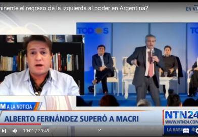 ¿Regresa la izquierda en Argentina? debate contra progres de Nicolás Márquez en NTN24