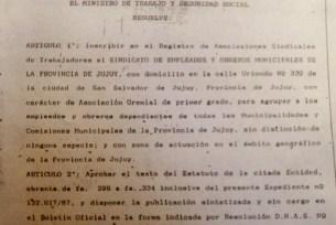 Artículo 1° - Estatuto SEOM Jujuy