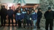 Trabajadoras de paro con fuerte custodia policial