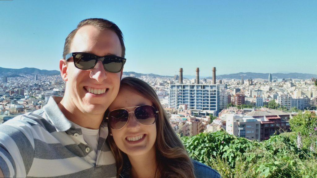 Overlook of Barcelona from Montjuïc