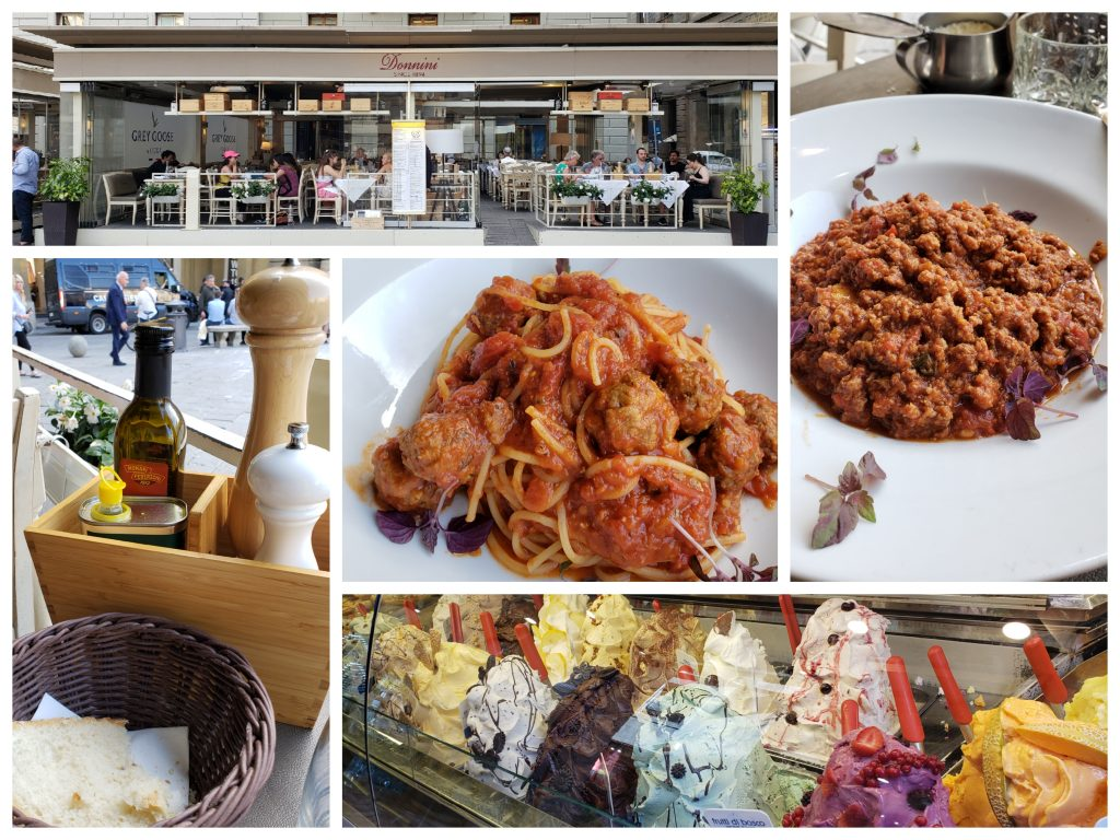 Dinner and dessert in Florence