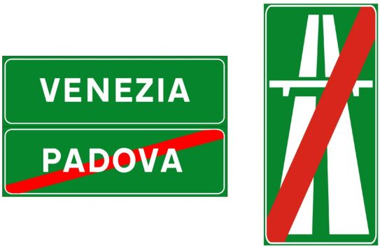 italian end marker signs