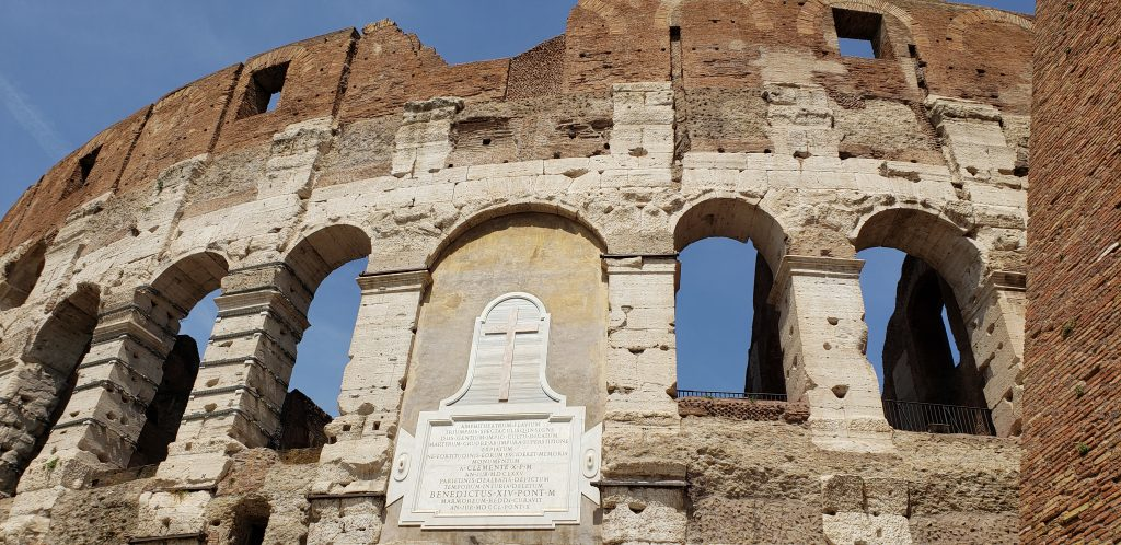 Plaque on the Colosseum