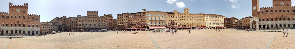 Panorama of Piazza del Campo