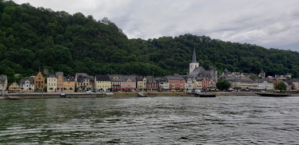 A small German town along the Rhine