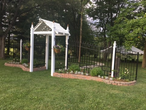 floral welcome gate