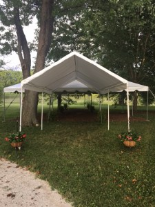 Farmington Lake rain tent