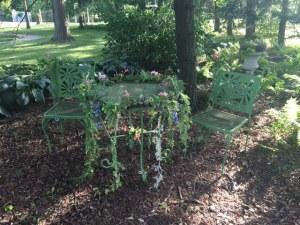Farmington Lake vintage garden seating
