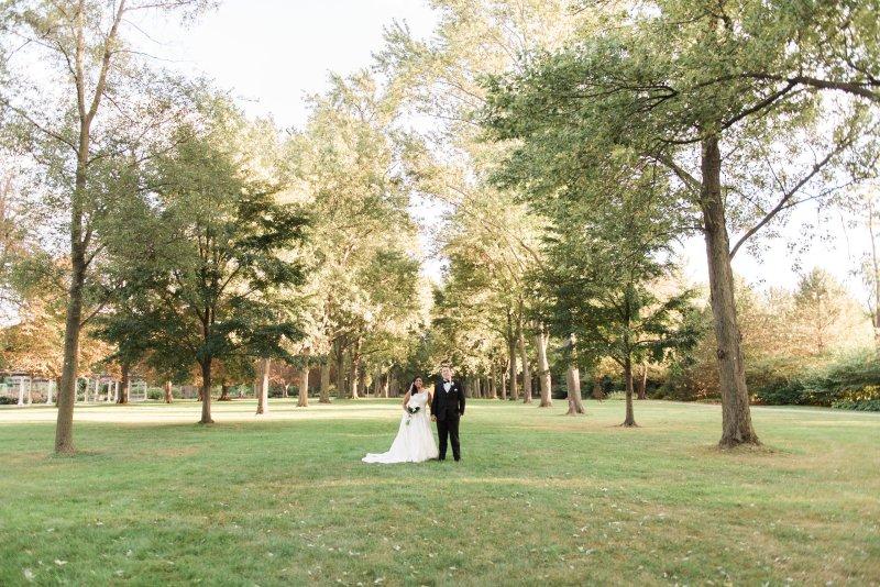 Wedding couple posing for their wedding video