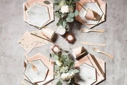 copper tablescape
