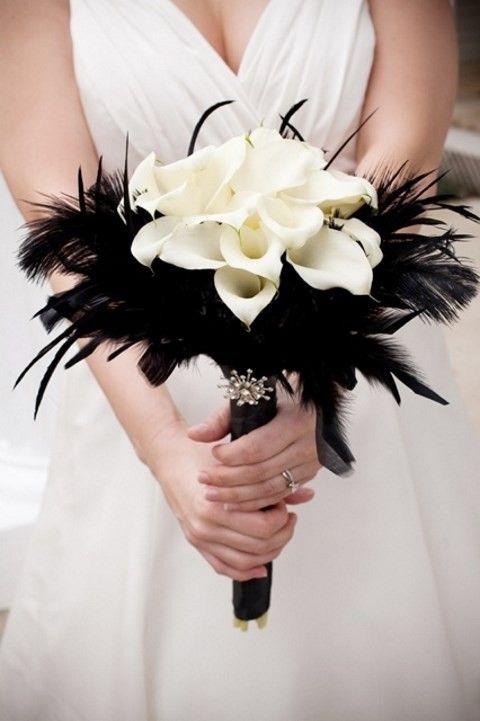 Bridal feather bouquet